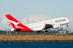 Qantas Airbus A380 (Daniel Talbot) Tags: a388 airbus airbusa380800 australia nsw newsouthwales qantas syd sydney sydneykingsfordsmithairport vhoql yssy aircraft airplane airplanes airport aviation maker oceania plane season seasons transportation winter wintertide wintertime