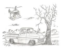 The Bird (rod1691) Tags: myart art sketchbook bw scfi grey concept custom car retro space hotrod drawing pencil h2 hb original story fantasy funny tale automotive illustration greyscale moonpies sketch sexy voodoo bird
