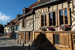 Half-timbered houses in Amiens, France (Adrià Páez) Tags: halftimbered houses amiens france wood architecture traditional house windows plants roofs city street somme hautsdefrance picardy europe canon eos 7d mark ii