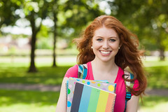 846067512 (creative guide) Tags: green casual redhair attractive beautiful notebook collegestudent female headandshoulders attractiveperson ireland irl