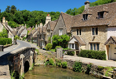 Castle Combe (iwys) Tags: castle combe cotswolds village stone walls stream bridge blue sky summer chocolate box english england traditional architecture wiltshire small town top 10 ten villages