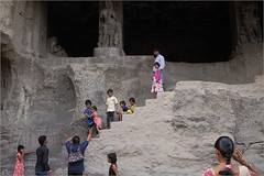 dots, ellora (nevil zaveri (thank U for 15M views:)) Tags: zaveri ellora caves cave16 unesco world heritage maharashtra india photography photographer images photos blog stockimages photograph photographs rockcut basalt aetrip interior carving people woman women tourist camera nevil rocks nevilzaveri stock photo sculpture motif child children kid kids