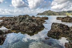 Coromandel Coast (Kiwi-Steve) Tags: nz newzealand northisland coromandel coromandelpeninsula beach rock sea seascape nikon nikond7200 landscape reflections