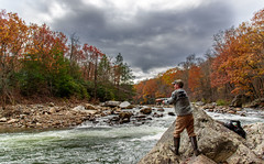 Lone Fisherman on the Potomac by Ken Walz (Maryland DNR) Tags: 2018 photocontest winner recreation fishing angler fall autumn foliage potomacriver