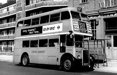 London transport RTL384 on route 108A Greenwich 1967. (Ledlon89) Tags: bus buses london transport lt lte londontransport londonbus londonbuses vintagebuses leylandtitan leyland parkroyal