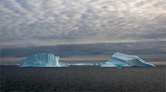 Blue Icebergs 2 (Waldemar*) Tags: thearctic polar greenland scoresbysound scoresbysund iceberg ice berg blue aqua clouds 70°30′n 70°30′north nature seascape sea scenery scenic