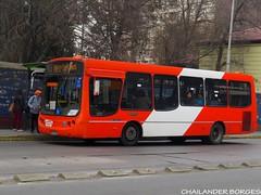 Express de Santiago  2097 (Chailander Borges (São Paulo/Brasil)) Tags: sistema bus buses trans santiago transantiago cidade chile transport public ônibus autobus autobuses articulado rua parabrisa placa edifício