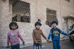 The Gang (Hasan Blal) Tags: crisis war syria damascus girls children displaced isis army social nrc the norwegian refugee council