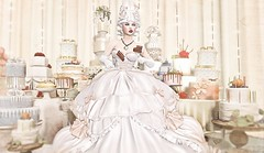 Let them eat their own cake.... (Duchess Flux) Tags: fantasygachacarnival glamaffair laq empyreanforge mad elitesweets rowanwood aphrodite candy tresbeau tresblah dustbunny applefall kalopsia 22769 marieantoinette fantasy secondlife sl