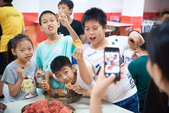 2018 Summer Programme - Taste Test 09 (C & R Driver-Burgess) Tags: children boys girls parents aduls mother father teacher preteen middleschool elementary age table watermelon biscuit cookie anzac oats tray dish eating nibble together fun friends pink green red yellow blue reward conclusion