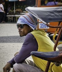 Waiting (Beegee49) Tags: street man pedicab rider waiting bacolod city philippines public transport