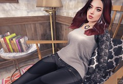 I Can Do Nothing But Daydream (Cryssie Carver) Tags: secondlife second life sl avatar theliaisoncollaborative the liaison collaborative neve blueberry jumooriginals jumo originals izzies iconic league aviglam avi glam euphoric catwa maitreya chimia bynacht by nacht