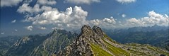 Panorama Westlicher Wengenkopf(2235m) vom Nebelhorn(2224m) aus (kh goldphoto) Tags: alpenpanorama alpen nebelhorn wengenkopf alpengipfel gipfelkreuz gipfel panorama allgäu bayern oberstdorf