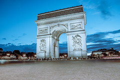 Paris Arc (ahmadtalha1987) Tags: arc architecture paris france travel streetphotography streetview nightphotography blue hour world