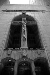 JJN_7805 (James J. Novotny) Tags: jesusonthecross stpeter jesus cross church statue chicago bw d750 nikon city unlimitedphotos blackandwhite buildings citylife