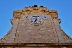 Four Dimensions (Douguerreotype) Tags: palace sky historic city buildings malta architecture valletta urban clock