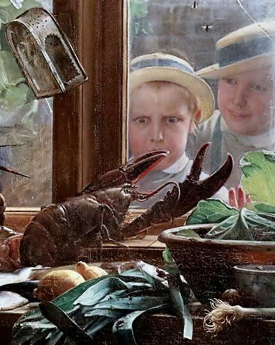 IMG_3583A Carl Bloch 1834-1890 Danish A kitchen table. Une table de cuisine 1879 Copenhagen Statens Museum for Kunst