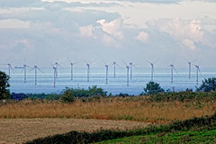Wind Farm (Geoff Henson) Tags: windfarm turbine sea water ocean sky clouds fields trees telephoto sussex brighton