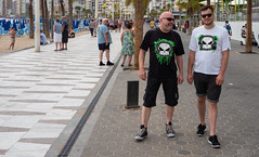 Benidorm 2018. (CWhatPhotos) Tags: cwhatphotos nofear no fear tshirts skull tshirt father son people sand sun light sunlight blue sky skies olympus four thirds 43 omd em10 ii digital camera photographs photograph pics pictures pic picture image images foto fotos photography artistic that have which with contain artistc benidorm beach seaside resort spain costa blanca spanish fun hol holiday september 2018