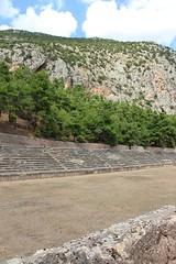 Stadium (demeeschter) Tags: greece delphi archaeological heritage historical ruins unesco parnassus mount ancient oracle museum art theatre stadium temple apollo