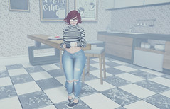 #1051 (AddisonLynnRose Resident) Tags: second life sl bento truth hair catwa maitreya pink fuel ten penny mooh blueberry reign pacagaia poses sense event fashion photography autumn coffee fall