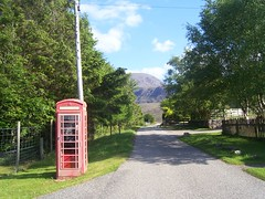 Red Telephone Box, Badcaul, Wester Ross, May 2018 (allanmaciver) Tags: red telephone boc badcaul wester ross highlands scotland west coast unique faded working buzz location remote loch broom british telecom allanmaciver