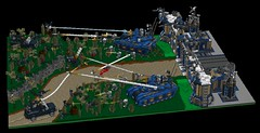 bad guys (R.S.E) Attacking Outpost1 (demitriusgaouette9991) Tags: lego military ldd base battle war attacking imperial separatist army tank truck shooting