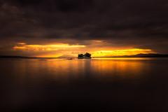 sunset 3418 (junjiaoyama) Tags: japan sunset sky light cloud weather landscape orange contrast color bright lake island water nature summer calm dusk serene reflection