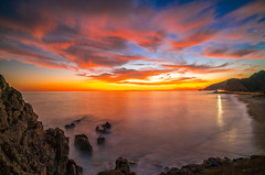 Red Orange Yellow Malibu Beach Fine Art Landscape Seascape Photography: Sony A7RII Pacific Ocean Nature : Brilliant California Ocean Colorful Clouds Long Exposure Water Reflections Scenic Vista View! Carl Zeiss Sony T* FE 16-35mm f/4 ZA OSS 8K Resolution! (45SURF Hero's Odyssey Mythology Landscapes & Godde) Tags: malibu beach fine art landscape seascape photography sony a7rii pacific ocean nature brilliant california colorful clouds long exposure water reflections scenic vista view carl zeiss t fe 1635mm f4 za oss high res red orange yellow