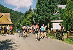 Carpathians Ride 17 (Designer • Photographer • Cyclist) Tags: carpathians mountains cycling kodak kodakcolorplus kodakgold iso200 film filmphotography photography ukraine hills climbs climbing tourism traveling bike roadbike biketrip tour 2018 summer sun chill filmportrait green road cyclist people team