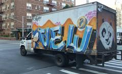 Vew GI (TheMachineStops) Tags: 2018 outdoor nyc newyorkcity manhattan graffiti westvillage graffititrucks streetart urbanart truckgraffiti iphone8 vehicle boxtruck vewgi panda road kungfupanda bear