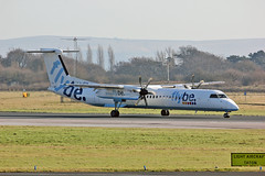 G-JECH DHC-8Q 402 Flybe MAN 17-02-13 (PlanecrazyUK) Tags: gjech dhc8q402 flybe man 170213 egcc manchester ringway manchesterairport