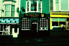 The Tipsy Bear (rob orchard) Tags: tipsybear pub brighton chequers canon ae1 agfa precisa xpro iso100 crossprocessed 35mm film analog analogue
