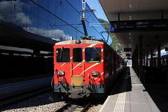 Matterhorn-Gotthard-Bahn (1) (Krzysztof D.) Tags: pociąg train zug kolej bahn railway dworzec station stacja bahnhof szwajcaria schweiz suisse svizzera svizra electric elektryczny wąskotorówka narrowgauge schmalspurbahn