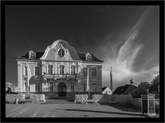 Sony A7R infrared with  Sony 16-35mm Vario-Tessar T FE F4 ZA OSS (Dierk Topp) Tags: a7r bw himmel ilce7r ir sony1635mmvariotessartfef4zaoss architecture clouds infrared monochrom rathaus reinfeld sw sony wolken