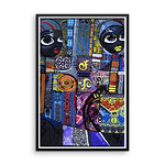 Framed photo paper poster abstract wall art thumbnail