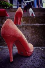 Cinderella Gathering (wulifou) Tags: monschau cities street shoes wideangle fujix100f