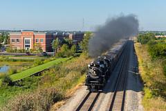 Suburban Steam (Nolan Majcher) Tags: nkp 765 nickel plate road steam locomotive metra rock island district railroad mokena il illinois