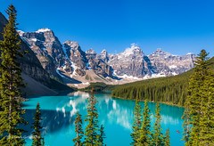 The beautiful Moraine Lake 1 of 3 D85_3857.jpg (Mobile Lynn) Tags: water countryside forest reflection lake landscape snow mountain landscapephotography outdoorphotography field alberta canada ca coth5