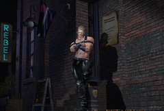 Doorman_350d (* Drey Messmer *) Tags: gay male hairy leather beard muscle harness boots bear club chaser lgbt guy manly doorman fetish 2018 september fall autumn