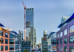 neustar panorama (pbo31) Tags: sanfrancisco california nikon d810 color city urban august 2018 summer boury pbo31 financialdistrictsouth glass tower contemporary transit transbay center salesforce blue architecture construction panoramic large stitched panorama roadway skyline reflection over