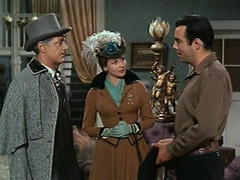 "Edward Ashley, Hazel Court, Pernell Roberts, Bonanza, ""The Last Trophy,"" 1960 (classic_film) Tags: bonanza 1960 sixties western tv television american añejo america vintage 1960s retro old oldwest alt oll color nostalgic nostalgia hollywood classic clásico edwardashley man actor akteur acteur hazelcourt actress actriz woman ephemeral entertainment sensuous sexy hair hairstyle mujerbonita hübschesmädchen hübschefrau mujer frau clothing clothes fashion niñabonita schauspielerin beauty beautiful prettygirl pretty aktrice actrice época atriz schön kleidung ropa lady jahrgang pernellroberts hat drama americana celebrity usa unitedstates rural gloves"