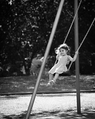 Childs play (Wilco1954) Tags: children playground swings mono sundayafternoon