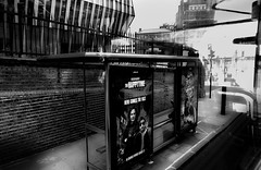 .....the bus station..... (christikren) Tags: blackwhite bw coach bus station reflection window cinema london christikren city candid downtown glass linescurves monochrome noiretblanc panasonic sw street travel tourismus urban greatbritain happytime mono contrast look different unitedkingdom