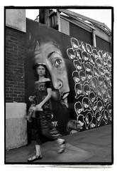 VARIOUS FACES. (StockCarPete) Tags: bw street shoreditch london uk londonstreets edmx streetart movement