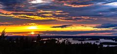 sunset in Neulämäki in Kuopio 2 (VisitLakeland) Tags: kuopio lakeland auringonlasku evening lake maisema metsäforest scene scenery sun sunset