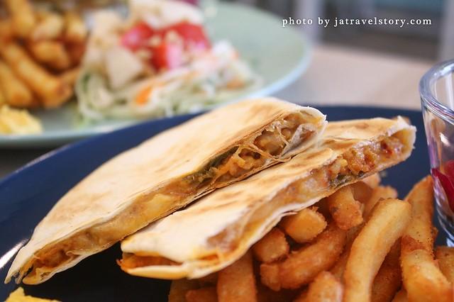 Mo薯墨西哥餅 假日限定早午餐,推薦BBQ手撕豬奶油起司三明治!【基隆美食】 @J&A的旅行