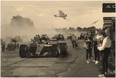 """Brooklands Time Warp"" (reworked) (martinshore) Tags: prewar mercedes lewishamilton cars racing racingcars past future timewarp brooklands"