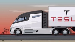 LOOK! Tesla S Big Green Semi Truck Gets A Shoutout From Kimbal Musk (89josephmansur) Tags: car new review automotive auto