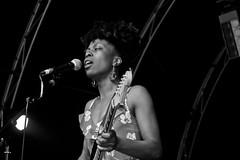 Ese at The Palace (The_Kevster) Tags: gig guitar singer monochrome festival london crystalpalace eseokorodudu esethevooduupeople show fender strat quadrafon southlondon bw blackandwhite woman girl portrait person